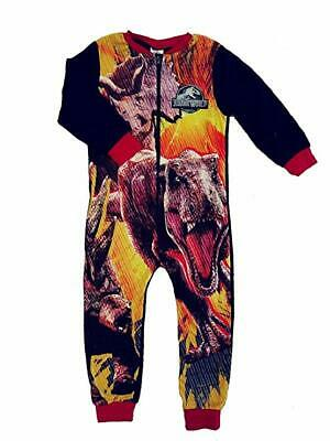 Boys girls JURASSIC WORLD  all in one, sleepsuit, pyjamas pj 4-10yrs character