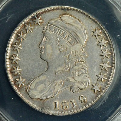 1819/8 Capped Bust Half Dollar -- ANACS XF-40 Details
