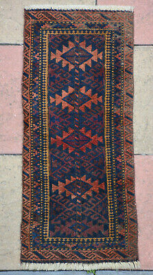 OLD BALUCH BALISHT : SIZE is 102 x 44 cm