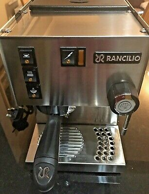 Rancilio Silvia V3 Espresso Coffee Machine and stainless steel 2-drawer base