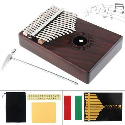 17 Key Kalimba Single Board Mahogany Thumb Piano Mbira Keyboard Instrument Gifts