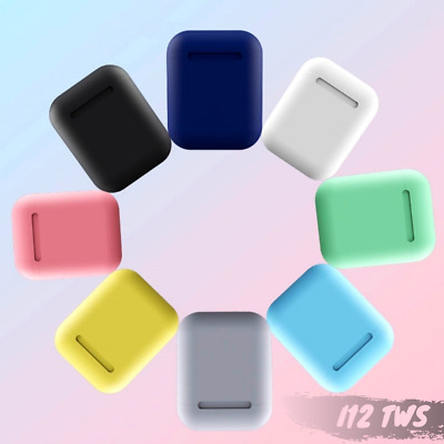 NEW i12 TWS Bluetooth 5.0 Headset Wireless Earbuds earphones COLORFUL CREAM