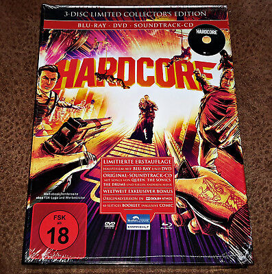 ☆HARDCORE☆ UNCUT MEDIABOOK 3-Disc Limited Collector's Edition BluRay/DVD/CD OOP!