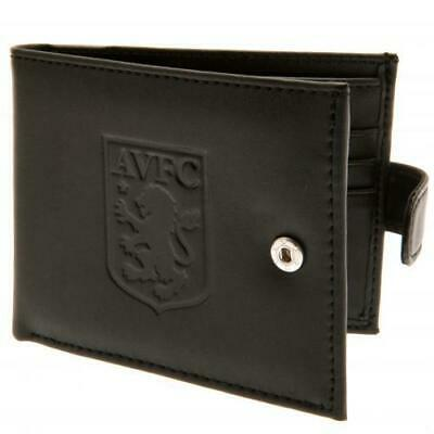 Aston Villa F.C RFID Anti Fraud Wallet Black Leather Wallet Boxed Official