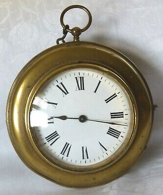 Watch Clock Desk or Mantel 1920's Vintage Goliath Style Brass Working Order vgsb