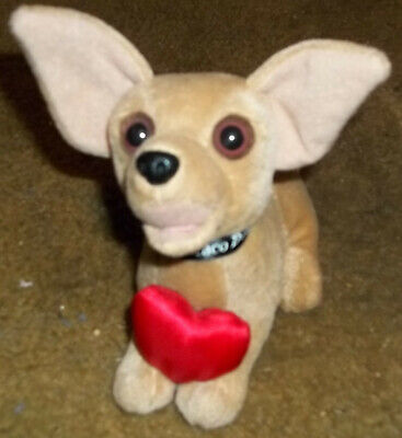 """Classic Taco Bell Talking Chihuahua Dog Plush Toy 6"""" Meow"""