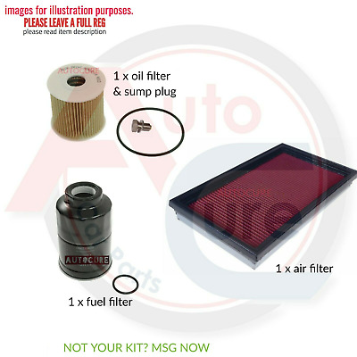 Nissan X-Trail 2.2 Dci T30 Filter Only Service Kit Oil Air Fuel Filter