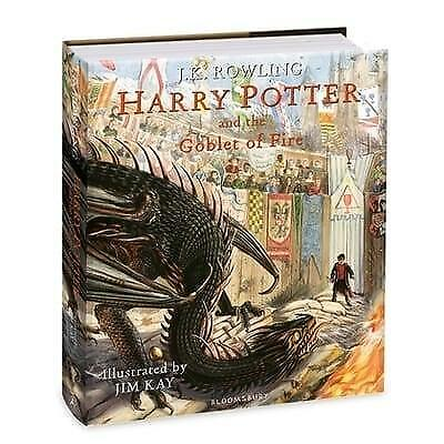 HARRY POTTER AND THE GOBLET OF FIRE JK Rowling SIGNED by JIM KAY ILLUSTRATED 1st
