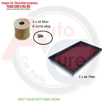 Nissan X-Trail 2.2 Dci T30 Filter Only Service Kit Air Filter Oil Filter & Plug