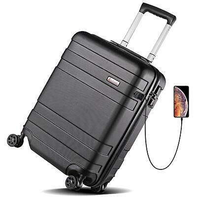 REYLEO Hardside Luggage 21 Inch Carry On Luggage 4-level Handle Travel Suitcase