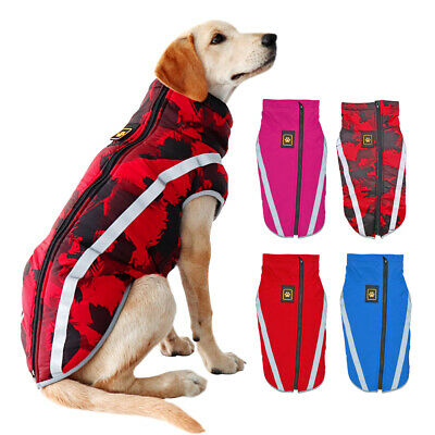 Large Dog Winter Coat Waterproof Jacket Warm Padded Apparel Reflective Clothes