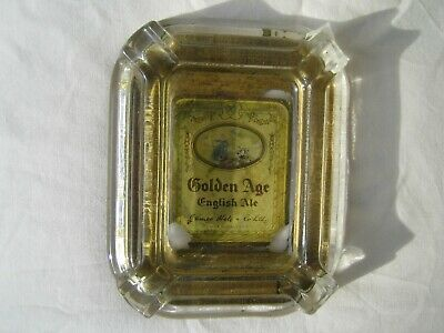 "Late 19th Century antique glass ashtray ""James Hole & Co Ltd"" Castle Brewery"