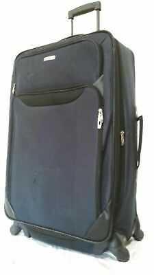 $200 TAG Springfield III 27'' Luggage Expandable Suitcase Upright Blue Softcase