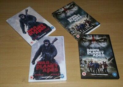 War For The Planet Of The Apes & Dawn Of The Planet Of The Apes ( 2 DVD )
