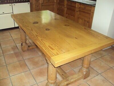 Stunning Victorian Solid Pine Refectory Farmhouse Kitchen Table pickup LS25 ONLY