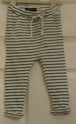 New Next  baby Boys Joggers Navy Blue/White stripes size 12-18  months