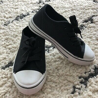 Kids Shoes Size 12 Boys Girls NEW Lace Up Runners Casual Cotton Rubber