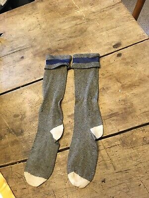 moprimitivepast BEST Antique blue top & grey childs pegrack socks primitive AAFA