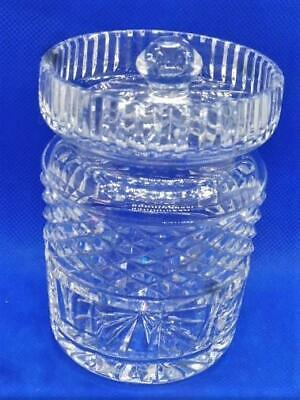Waterford Crystal Castlemaine Clear, Lidded, Honey, Jam, Condiment Jar EUC