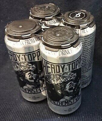 Heady Topper 4 Pack Empty Cans