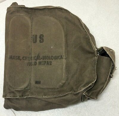 Us Mask Chemical Biological Vietnam Military Armyfield Protective Gas Canvas