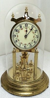 Vintage Kundo Clock Mother Of Pearl Brass West Germany Time Home Decor Art As Is