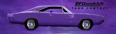 REPRODUCTION BF GOODRICH PURPLE CHARGER BANNER.  13oz Vinyl.  3 Sizes Available