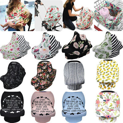 Multi-Use Nursing Cover Baby Car Seat Canopy Shopping Cart Stroller Cover US
