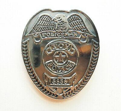 Vintage Silver 1991 Toy Police / Sheriff's Badge!