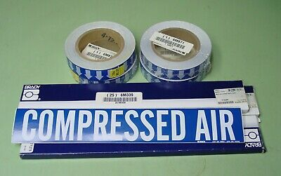 Brady 7060-1 Compressed Air Pipe Labels And 91427 Flow Direction Arrow Tape
