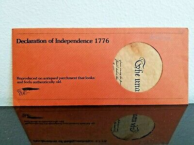 US Declaration of Independence, 1776, Historical Replica Parchment, by HDC 1977