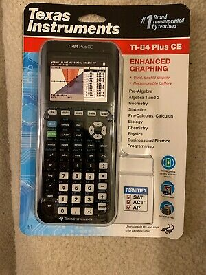 Texas Instruments Ti-84 Plus Ce Graphing Calculator - Black , New In Box
