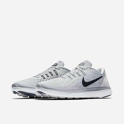 Nike Men's Flex 2017 RN PlatinumBlackGrey Running Shoes Size 8 NWB