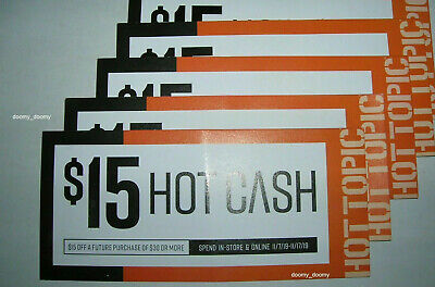 5 H0t T0pic H0t Cash $15 off $30 coupons in-store/online 11/7/19 - 11/17/19