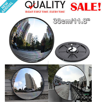 Wide Angle Security Road Mirror 30cm Curved for Indoor Burglar Outdoor Safurance