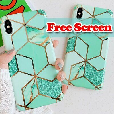 For Apple iPhone 11 Pro Max XS X XR 8 7 6S 6 Plus Slim Case Cover + Glass Screen