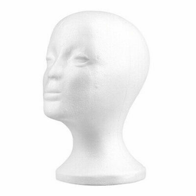 Practical Female Foam Mannequin Head Model Hat Wig Display Stand Rack white