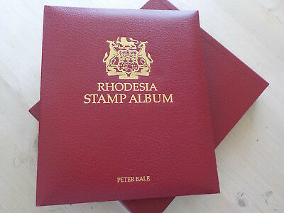 RHODESIA Stamp Album & case including hingeless pages/leaves Stanley Gibbons A