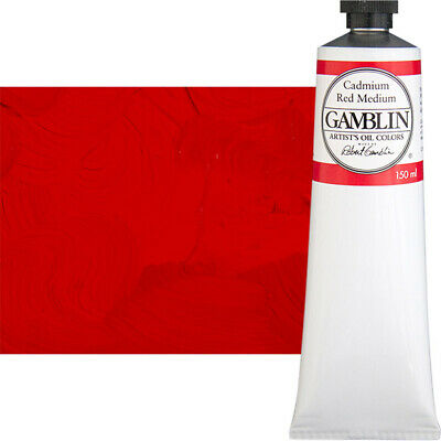 Gamblin Artist's Oil Color 150 ml Tube - Cadmium Red Medium