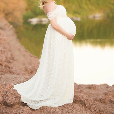 Women Maternity Long Maxi Dress Gown Party Pregnancy Art Photography Props