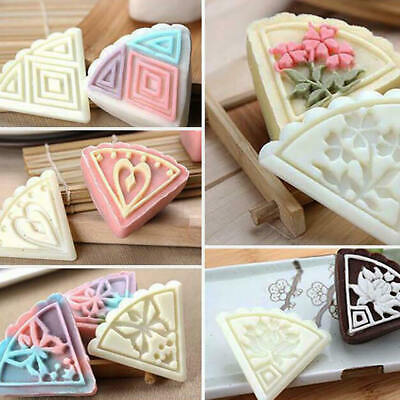 5 Flower Stamps 50g Moon Cake Mould Square DIY Mooncake Mold Baking Decor Tool
