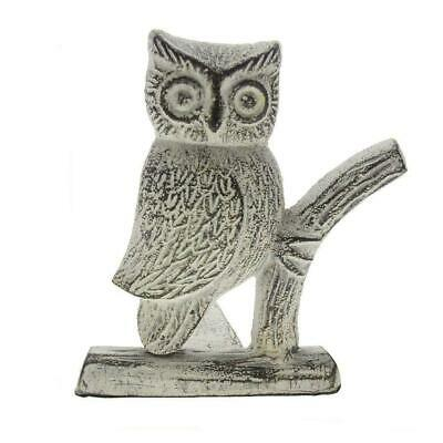 Cast Iron Owl Door Stop | Decorative Stopper Wedge | With Padded Brown