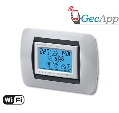 Geca 35282384 Green Wi-Fi Cronotermostato Wi-Fi Touch Screen Bianco Da Incasso