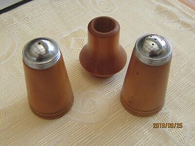 Huon Pine Salt and Pepper Shakers and Toothpick Container