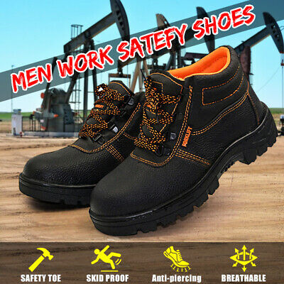 US Men's Safety Lightweight Work Shoes Steel Toe Boots Sneakers Indestructible