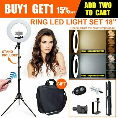 """18"""" Dimmable 45cm 50W  LED Ring Light With 185cm Stand Bag Kit for Video Photo"""