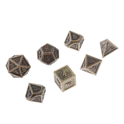 38mm Polyhedral Alloy Dice for  D/&D DND Game Prop w// Bag
