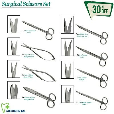 Range Of Surgical Scissors Dental Cutting / Dressing Medical Laboratory Tools CE