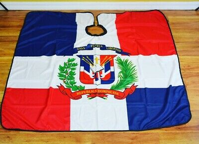 Dominican Republic Barber hair cutting and styling cape
