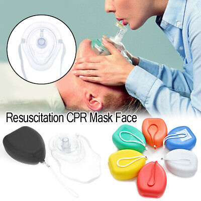 CPR Resus Pocket Face Mask Resuscitator Rescue Red Latex Free Same Day Despatch